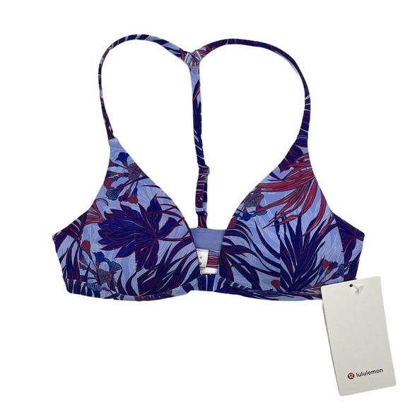 Lululemon Bikini Swim Top Deep Sea Lilies NEW